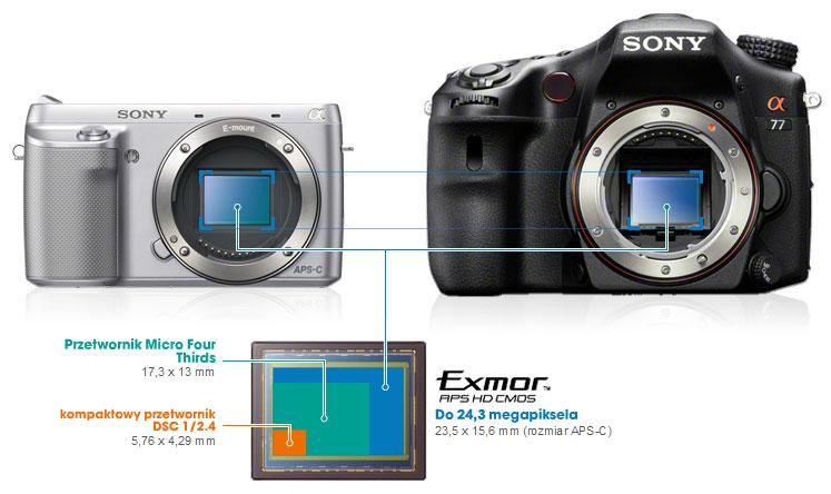 Porównanie matryc / fot. za Sony